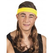 Gele haarband met lang haar