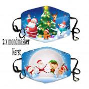 Kerst mondmaskers aanbieding