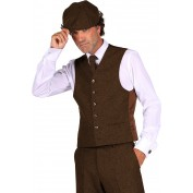 peaky blinders vest bruin luxe