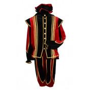 Pietenpak Toledo Rood Zwart met cape