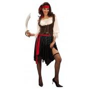 Piraat kostuum dames met rok