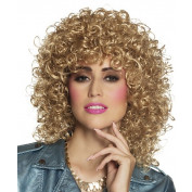 Pruik dames krullend blond