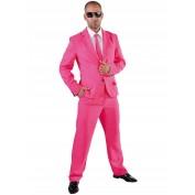 Pink kostuum met stropdas