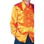 ruche blouse oranje
