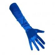 Lange handschoenen blauw