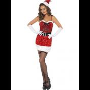 Sexy Kerstvrouw jurkje glitter
