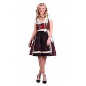 Dirndl Jurk Christa Rood Zwart - AANBIEDING!