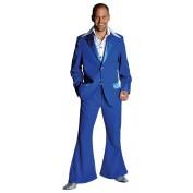 Blauw kostuum met jas en colbert discopak