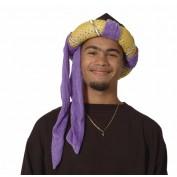 Sultan hoed goud-paars
