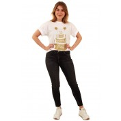 toppers t shirt wit met goud