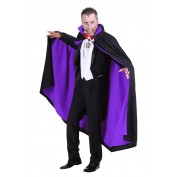 Dracula cape deluxe zwart-paars