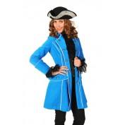 Fluwelen jas blauw
