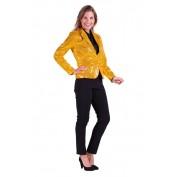 gouden pailletten jasje dames