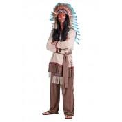 Indiaan kostuum heer Luxe