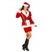 Kerstmeisje luxe jurk en jas