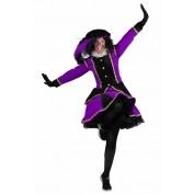 Zwarte Piet Dame Madrid Zwart-Paars
