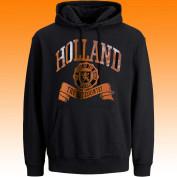Holland Hoodie Zwart oranje