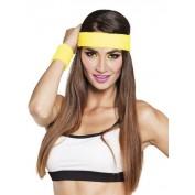 Haarband en polsbandjes geel