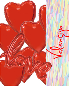 Valentijn balonnen